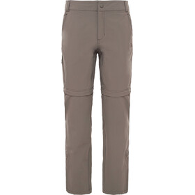 The North Face Exploration Aanpasbare Broek Korte maat Dames, weimaraner brown